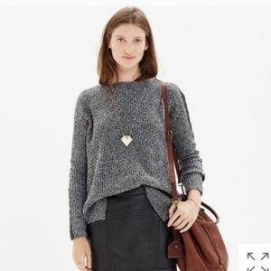Madewell 100% Merino Wool Sweater Leather Sz XS
